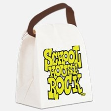 3-schoolhouserock_yellow Canvas Lunch Bag