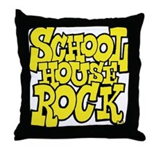 3-schoolhouserock_yellow Throw Pillow