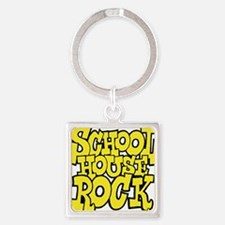 3-schoolhouserock_yellow Square Keychain