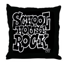2-SHR_REVERSE_black_button Throw Pillow