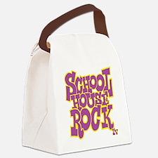 2-schoolhouserock_purple_REVERSE Canvas Lunch Bag
