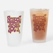 2-schoolhouserock_purple_REVERSE Drinking Glass