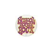 2-schoolhouserock_purple_REVERSE Mini Button