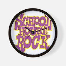 2-schoolhouserock_purple_REVERSE Wall Clock