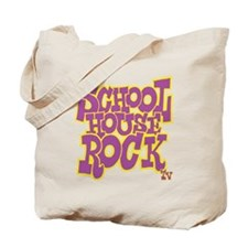 2-schoolhouserock_purple_REVERSE Tote Bag