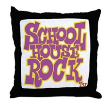 2-schoolhouserock_purple_REVERSE Throw Pillow