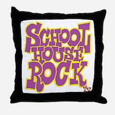 2-schoolhouserock_purple_REVERSE Throw Pillow