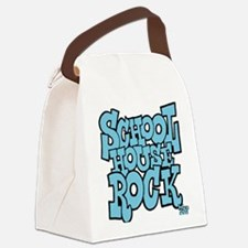 3-schoolhouserock_blue Canvas Lunch Bag