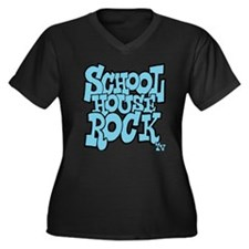 3-schoolhous Women's Plus Size Dark V-Neck T-Shirt