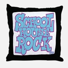 2-schoolhouserock_blue_REVERSE Throw Pillow