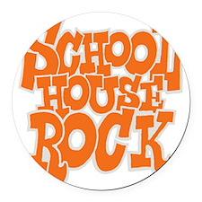 2-schoolhouserock_orange_REVERSE Round Car Magnet