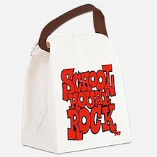 3-schoolhouserock_red Canvas Lunch Bag