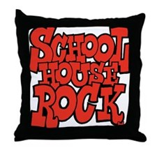 3-schoolhouserock_red Throw Pillow