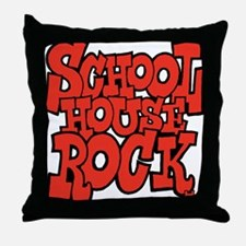 3-schoolhouserock_red Throw Pillow