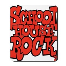 3-schoolhouserock_red Mousepad