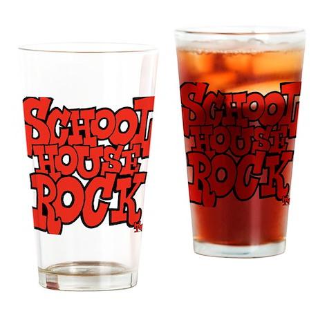 3-schoolhouserock_red Drinking Glass