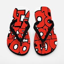 3-schoolhouserock_red Flip Flops