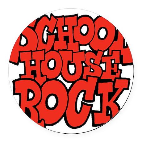 3-schoolhouserock_red Round Car Magnet