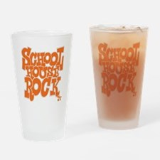 2-schoolhouserock_orange_REVERSE Drinking Glass