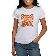 2-schoolhouserock_orange_REVERSE Tee