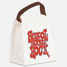 2-schoolhouserock_red_REVERSE Canvas Lunch Bag