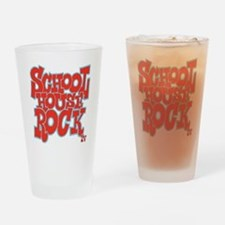 2-schoolhouserock_red_REVERSE Drinking Glass