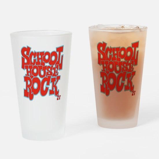2-schoolhouserock_red_REVERSE Drinking Glass