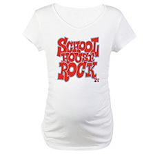 2-schoolhouserock_red_REVERSE Maternity T-Shirt