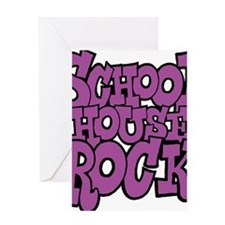 3-schoolhouserock_purple Greeting Card