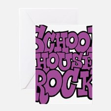 3-schoolhouserock_purple Greeting Card