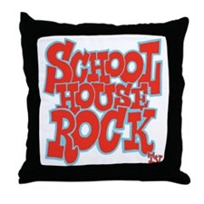 2-schoolhouserock_red_REVERSE Throw Pillow
