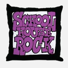 3-schoolhouserock_purple Throw Pillow