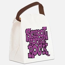 3-schoolhouserock_purple Canvas Lunch Bag