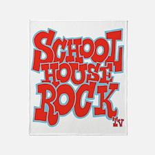 2-schoolhouserock_red_REVERSE Throw Blanket