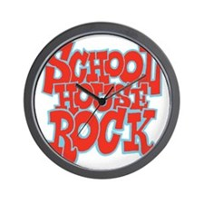2-schoolhouserock_red_REVERSE Wall Clock