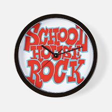 2-schoolhouserock_red_REVERSE Wall Clock