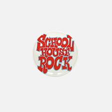 2-schoolhouserock_red_REVERSE Mini Button