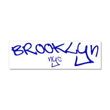 Brooklyn NYC (blue) Car Magnet 10 x 3
