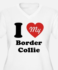 I Heart My Border Collie T-Shirt