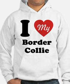 I Heart My Border Collie Hoodie