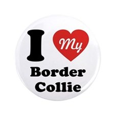 """I Heart My Border Collie 3.5"""" Button"""