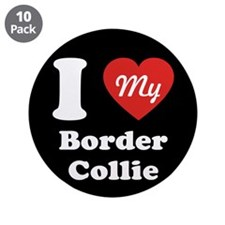 """I Heart My Border Collie 3.5"""" Button (10 pack)"""