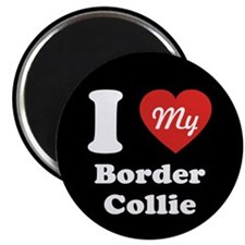 "I Heart My Border Collie 2.25"" Magnet (10 pack)"