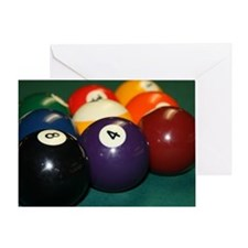 pool hall Greeting Card