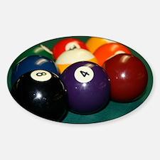 pool hall Sticker (Oval)