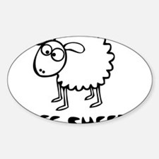 I See Sheeple Sticker (Oval)