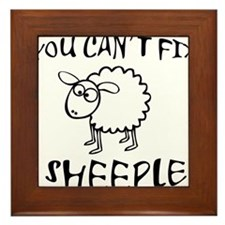 You Cant Fix Sheeple Framed Tile