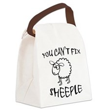 You Cant Fix Sheeple Canvas Lunch Bag