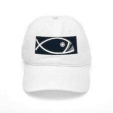 fish-fangs-BUT Baseball Cap