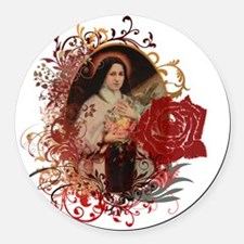 St. Therese Round Car Magnet